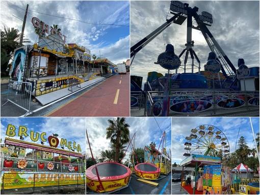 Il Luna park è arrivato sul lungomare Calvino e in piazzale Dapporto