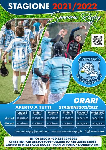 Il Sanremo Rugby apre le porte ai giovani: al via gli allenamenti per i piccoli atleti dai 4 ai 16 anni