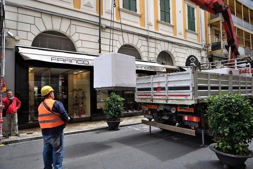 I lavori in via Matteotti (foto Tonino Bonomo)