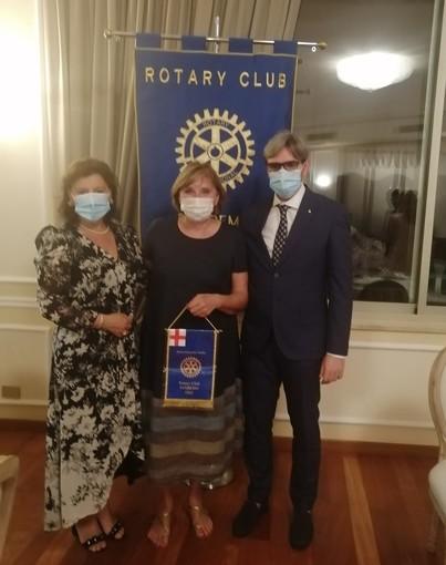 Laurence Navalesi, assessore alle politiche transfrontaliere di Nizza, ospite del Rotary Club Sanremo