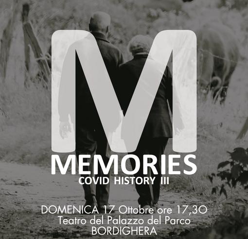 """Bordighera: domenica al Palazzo del Parco lo spettacolo """"Memories - Covid History III"""" di Liber Theatrum"""