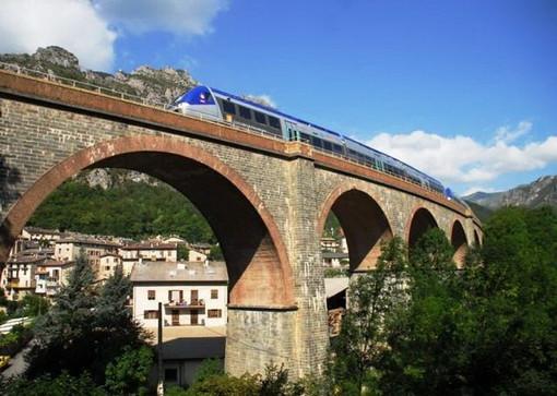 Immagini della tratta francese della Cuneo - Nizza (foto tratte dal sito Ter Paca)