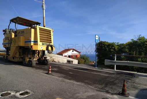 Sanremo: da quest'oggi via ai lavori per il ripristino degli asfalti in molte strade cittadine, cantieri fino al 18 dicembre