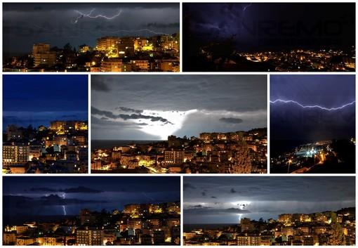 Le foto di Tonino Bonomo al temporale della notte e la cartina con il passaggio della perturbazione