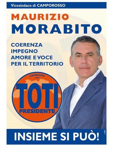 Dopo l'adesione a 'Cambiamo!' confermata anche la candidatura alla carica di Consigliere per Maurizio Morabito
