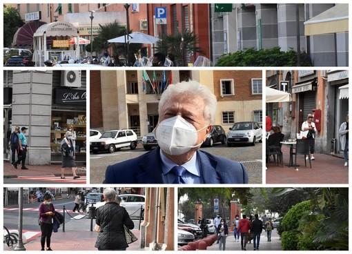 Ventimiglia: scattata l'ordinanza per l'obbligo della mascherina, al momento non tutti sono obbedienti (Foto e Video)