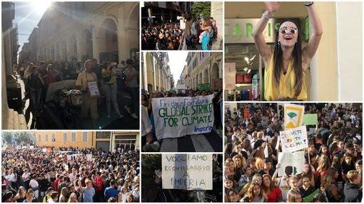 """Imperia: """"Chi non salta inquinatore è"""", almeno 1.000 giovani della nostra provincia in piazza per 'Fridays for the Future' (Foto e Video)"""