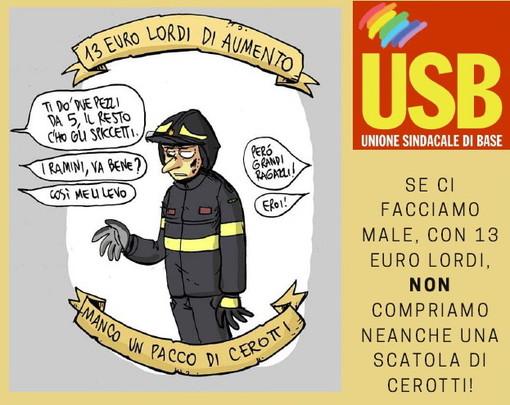 Anche una rappresentanza imperiese tra i Vigili del Fuoco del sindacato Usb che protesterà oggi a Roma