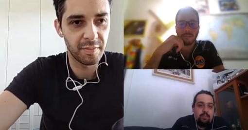 Giulio Mancuso e Dario Lo Mastro, giocatori del BKI Imperia, ospiti del nostro quotidiano online