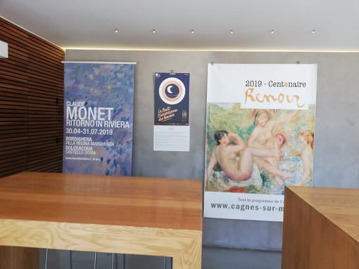 La mostra di Monet di Bordighera e Dolceacqua promossa anche in Francia a Cagnes sur Mer