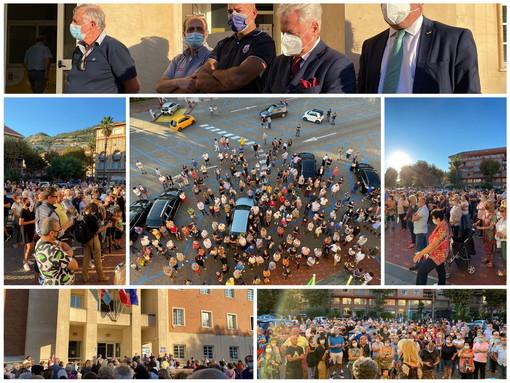 Le immagini da Ventimiglia