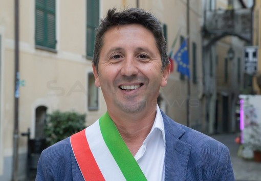 Il sindaco di Badalucco, Matteo Orengo
