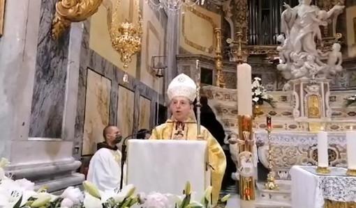 Bordighera: festa di Sant'Ampelio in tono minore e Messa a porte chiuse, l'Omelia del Vescovo Suetta (Video)
