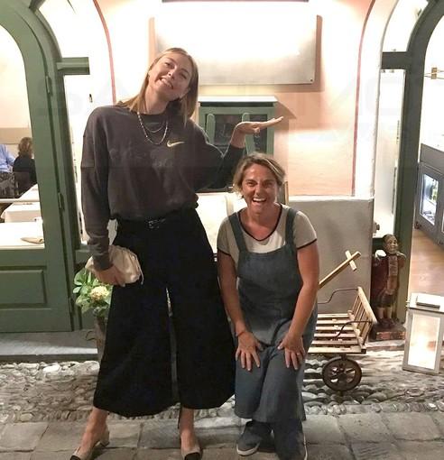 Bordighera: la splendida Maria Sharapova continua ad allenarsi ma scopre anche la nostra buona cucina (Foto)