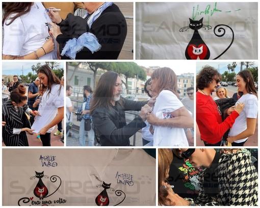 Sanremo: le magliette autografate dai cantautori del Premio Tenco per aiutare la 'Lega del Gattino' (Foto)