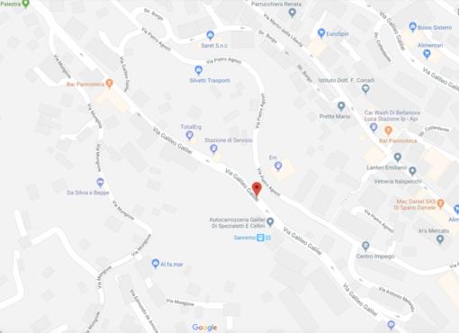 Le indicazioni di Google Maps per via Galilei