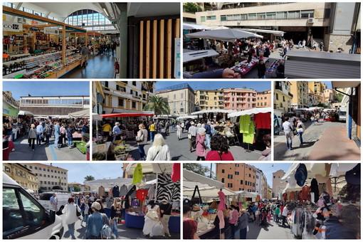 Sanremo: primo mercato del sabato con tanti clienti, c'è il ritorno dei francesi e si sono visti anche alcuni turisti (Foto)