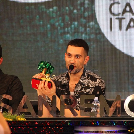 Mahmood in conferenza stampa