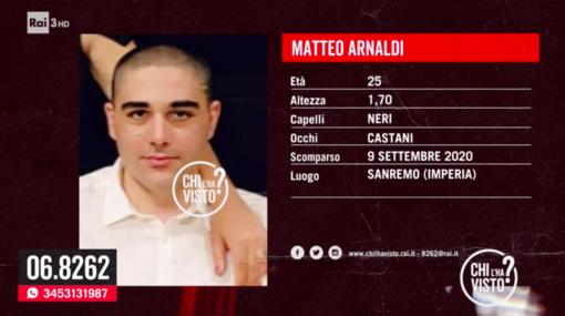 Sanremo: a 'Chi l'ha visto?' l'appello per la scomparsa del 25enne Matteo Arnaldi