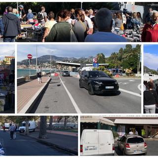 Ventimiglia: a parte il vento è un venerdì normale, nessun controllo al confine e tanti francesi in città (Foto e Video)