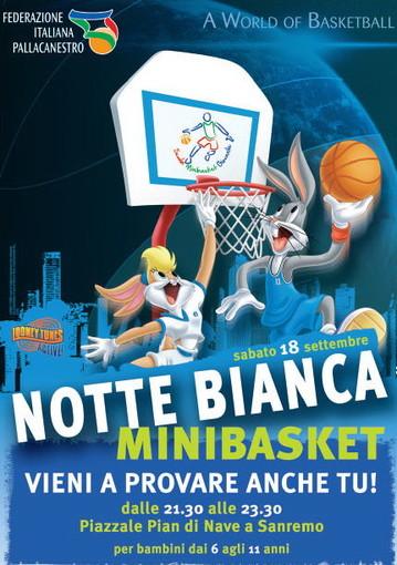Sanremo: anche il basket sarà protagonista sabato prossimo alla 'Notte bianca'