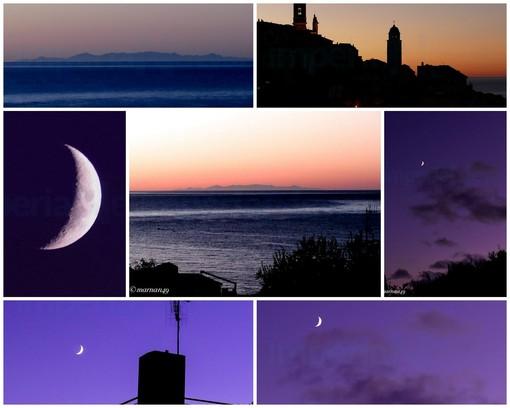 Corsica, Luna e il borgo di Cervo immortalati da Marcello Nan nelle ultime giornate terse (Foto)