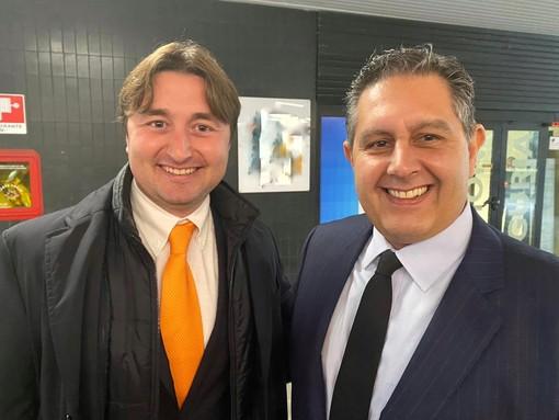 Da sinistra, Matteo Cozzani e Giovanni Toti