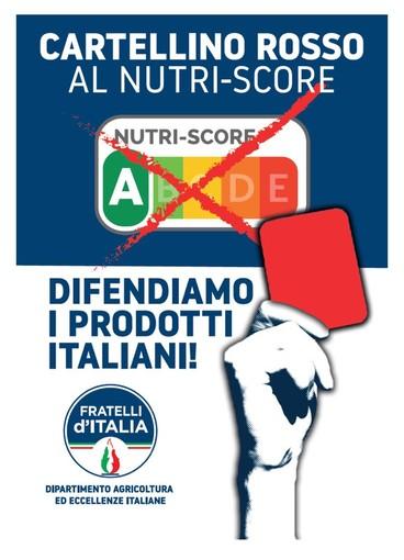 Sanremo: domani in via Escoffier un gazebo di FdI per la campagna 'Stop all'etichettatura Nutri-Score'