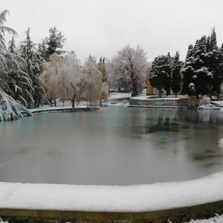 Maltempo sul Ponente: fitta nevicata anche in Valle Impero e Arroscia, le foto da Lucinasco