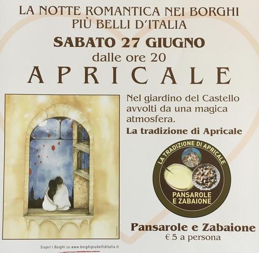 Apricale: sabato prossimo dalle 20 al Castello appuntamento con 'Notte romantica dei borghi più belli d'Italia'