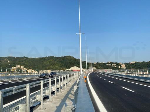 Ponte Genova San Giorgio: in serata l'apertura al traffico dopo una rifinitura alla pavimentazione