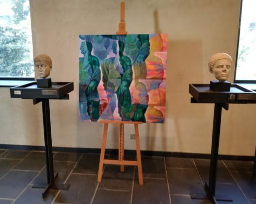 Donazione al MAR di Ventimiglia di un'opera dell'artista romana Emanuela De Franceschi