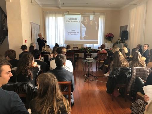 Sanremo: grande partecipazione questa mattina a Villa Nobel per la conferenza di Ouided Bouchamaoui