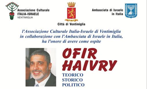 Ventimiglia: giovedì 21 marzo alla Biblioteca Aprosiana Ofir Haivry, Vice Presidente dell'Herzl Institute di Gerusalemme