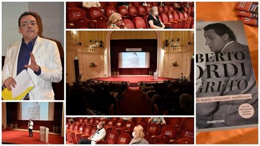 Sanremo: con la presentazione del libro su Alberto Sordi, Igor Righetti ha rimesso in moto i 'Martedì Letterari' (Foto e Video)