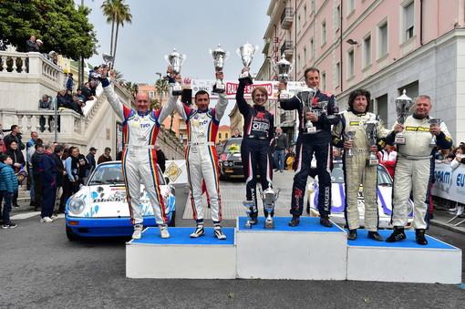 Al Sanremo Rally Storico, 'Lucky'-Pons sul gradino più alto del podio