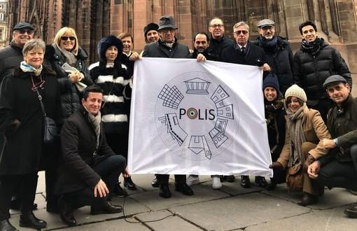 Una delegazione di 'Polis' in visita alla sede del Parlamento europeo di Strasburgo