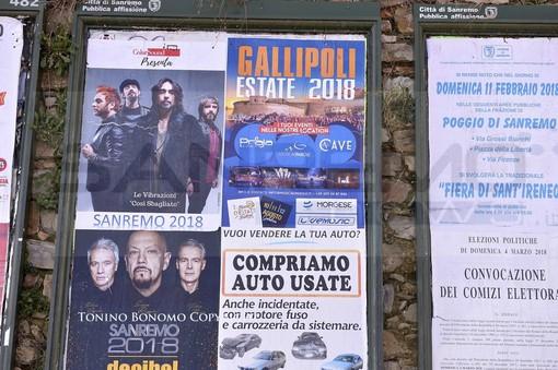 Sanremo: Gallipoli promuove la propria località turistica, manifesti affissi nella città dei fiori (Foto)
