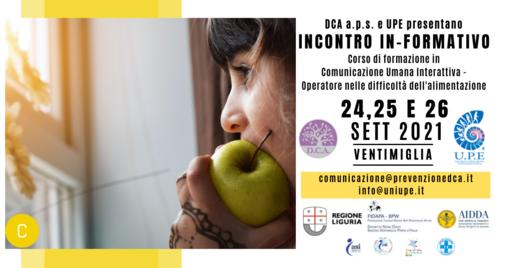 Ventimiglia: il prossimo fine settimana, incontri In-formativi sulla conoscenza dell'essere umano
