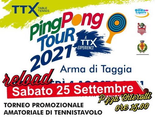 Arma di Taggia: sabato prossimo torna in piazza Chierotti il 'Ping Pong Tour 2021'
