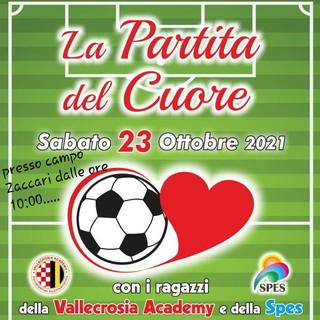 Domani la 'Partita del Cuore' allo Zaccari con la Polisportiva Vallecrosia Academy e la Spes di Ventimiglia