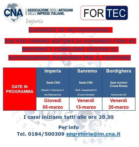 CNA Autoriparatori: ripartono i corsi del settore automotive in collaborazione con Fortec