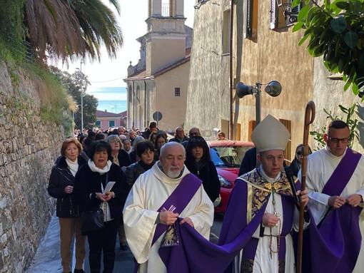 La processione del 7 marzo scorso