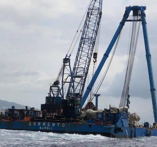 Spostamento manufatti tra Baiaverde e Cantieri del Mediteranneo per evitare l'erosione