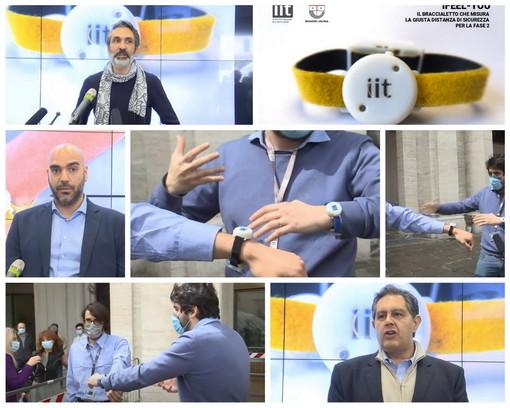 """Coronavirus, presentato in Regione """"iFeel-You"""": il braccialetto elettronico che aiuterà a mantenere la distanza sociale"""