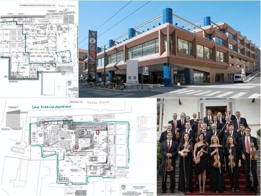 Sanremo: ecco come saranno suddivisi gli spazi del Palafiori quando diventerà la 'casa' della Sinfonica (La planimetria)