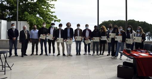 A Ospedaletti premiati i vincitori del concorso giornalistico: l'imperiese Marco Ghirardo vince il 1° Premio 'Valerio Venturi'