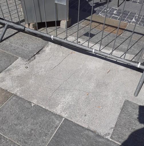 Le immagini della pavimentazione di via Matteotti