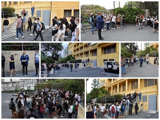 Tutti a scuola: dopo tanta Dad si torna in classe, al 'Cassini' di Sanremo alunni accolti dal Dirigente Claudio Valleggi (Foto e Video)