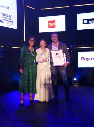 Sanremo: il cantiere Permare Amer Yachts vincitore al Boat Builder Awards di Amsterdam